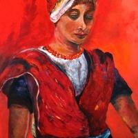 Vrouw in klederdracht