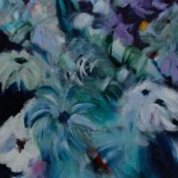 Bloemen in vaas / nr. 2 / 2015 / acryl / 180 x 60