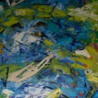 Wisselwerking / 2015 / acryl / 140 x 70