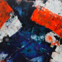 Peilloze diepte / 2016 / acryl / 70 x 70