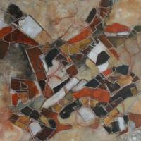 Stadsgezicht / Ghadames 2 / 2016 / acryl / 70 x 70 verkocht