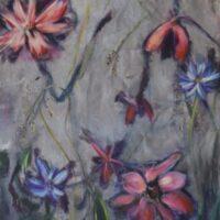 Who's afraid of Flowers? no. 2 / acryl op doek / niet opgespannen/ 62 x 165