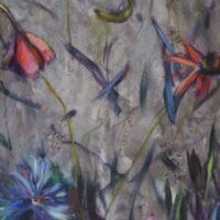Who's afraid of Flowers? no. 1 / acryl op doek / niet opgespannen / 165 x 62
